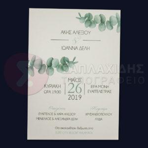 """Προσκλητήριο Γάμου """"MINIMAL EARTH"""""""