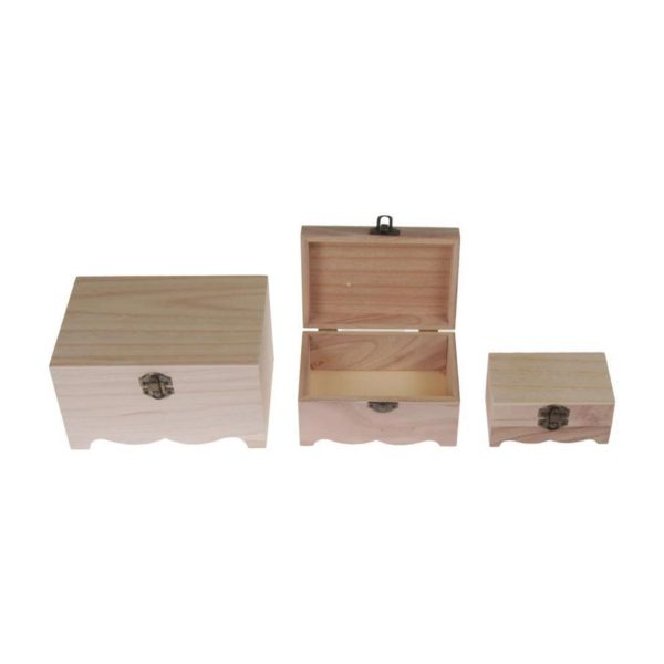 Κουτιά ξύλινα σετ 3 τεμαχίων