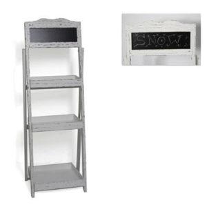 Ξύλινη ραφιέρα λευκή με 3 ραφάκια 122x43x7