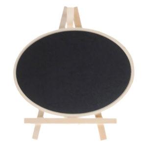 Πινακίδα μαυροπίνακα οβάλ ξύλινη 20x15
