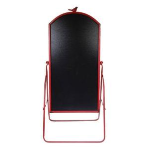 Πίνακας μαύρος μενού εστιατορίου με κόκκινο περίγραμμα 110x47x2,5