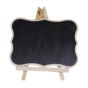 Πινακίδα μαυροπίνακα ξύλινη με καμπύλες και μύτες 19,7x15