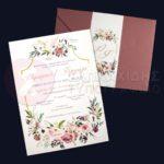 """Προσκλητήριο Γάμου LASERCUT """"CASSIA ROSES WEDDING"""""""