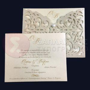 """Προσκλητήριο Γάμου LASERCUT """"WEDDING ALBIA NAMES"""""""