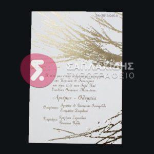 """Προσκλητήριο Γάμου """"D3019"""""""